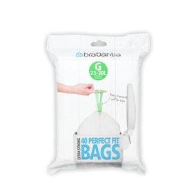 Brabantia Perfectfit Pack of 40 Size G 30 Litre Dispenser Bin Bags