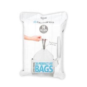Brabantia Perfectfit Pack of 30 Size H 50-60 Litre Dispenser Bin Bags