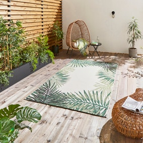 Miami Leaf Edge Indoor Outdoor Rug