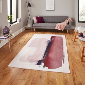 Michelle Collins Abstract Rose Crimson Rug
