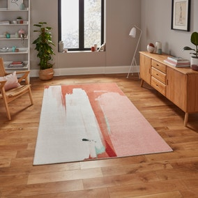 Michelle Collins Abstract Terracotta and Ivory Rug