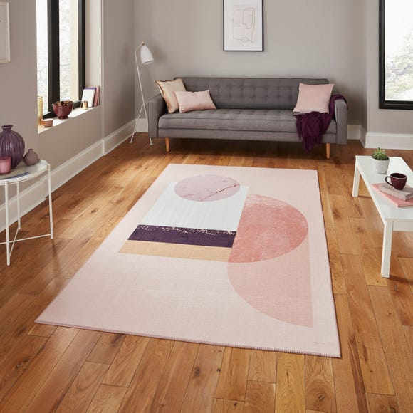 Michelle Collins Rose Geometric Rug  undefined