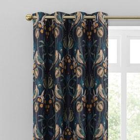 Havisham Navy Eyelet Curtains