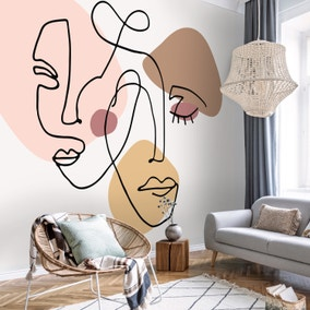 Abstract Faces Mural