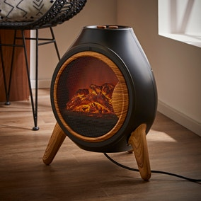 Chimnea Style Flame Effect Heater