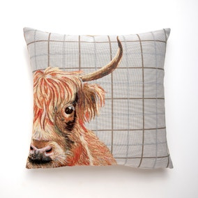 Highland Cow Tapestry Cushion