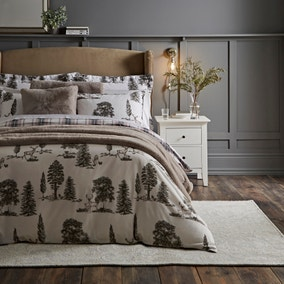 Dorma Brodie Red 100% Cotton Duvet Cover Set