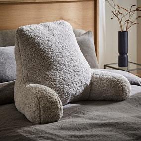 Teddy Bear Grey High Back Cuddle Cushion