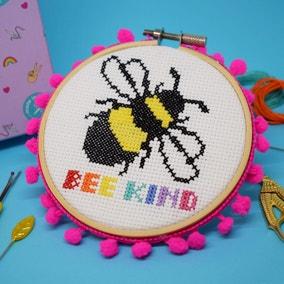 The Make Arcade Bee Kind Cross Stitch Kit
