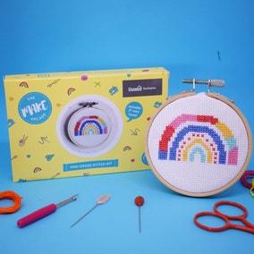 The Make Arcade Rainbow Cross Stitch Kit