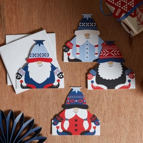 Pack of 16 Gnome Christmas Cards