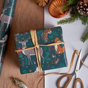 3m Woodland Animal Winter Solstice Wrapping Paper