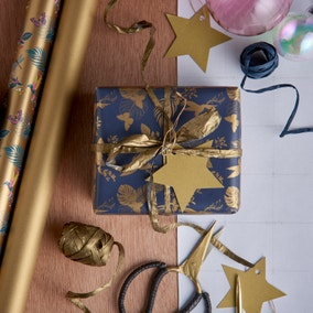 Set of 3 Blue and Grey Wrapping Paper