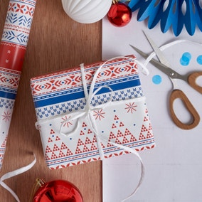3m Red, White and Blue Nordic Nomad Wrapping Paper