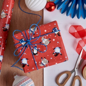 3m Red Nordic Nomad Gnome Wrapping Paper