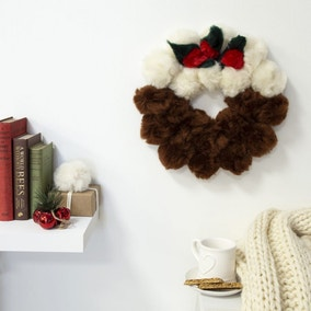 Wool Couture Christmas Pudding Wreath Craft Kit