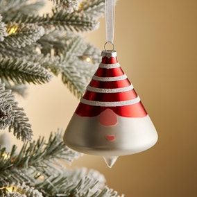 Glass Gnome with Red Hat Bauble