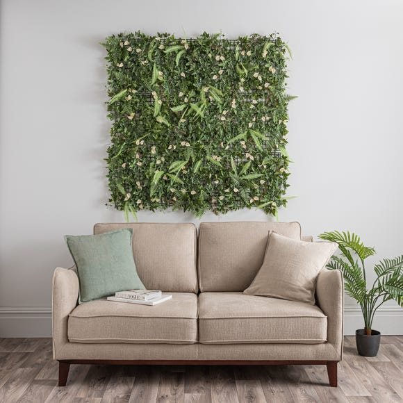 Pack of 6 Artificial Lily and Mixed Foliage Wall Panels MultiColoured