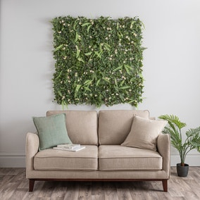 Pack of 6 Artificial Lily and Mixed Foliage Wall Panels