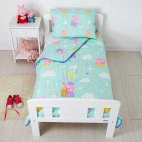 Coverless Peppa Pig 4 Tog Cot Bed Duvet and Pillow Set