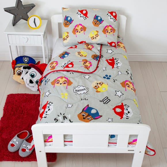 Coverless Paw Patrol 4 Tog Cot Bed Duvet and Pillow Set MultiColoured undefined