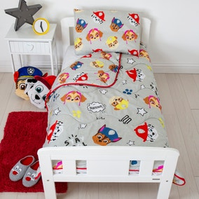 Coverless Paw Patrol 4 Tog Cot Bed Duvet and Pillow Set