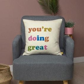 You're Doing Great Cushion