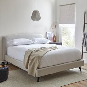 Modern Curved Upholstered Bed Frame