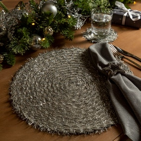 Pack of 2 Tinsel Placemats