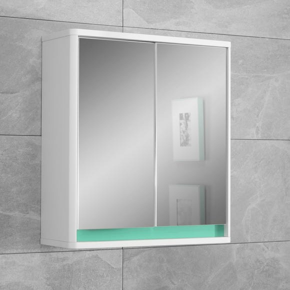 Vienna Mirror Cabinet with Reversible 4 in 1 Colour Bar White
