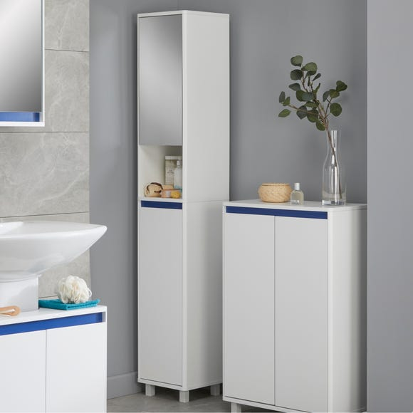Vienna Tallboy with Reversible 4 in 1 Colour Bar White