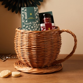 Wicker Cup and Saucer Hamper