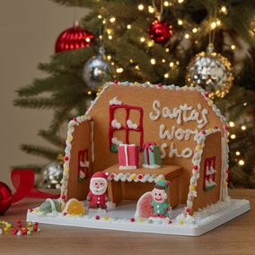 Decorate Your Own Gingerbread Santa's Workshop