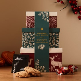 Set of 3 Boxed Tea, Biscuits and Chocolate Gift