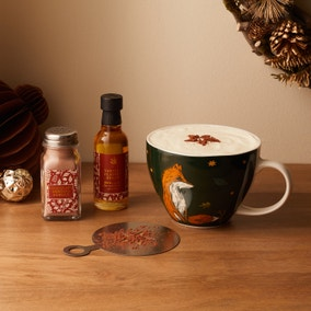 Cappucino Mug with Dusting Powder and Stencil Set