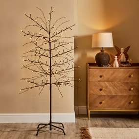 5ft Brown Light Up Twig Tree