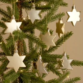 Pack of 8 Star Baubles