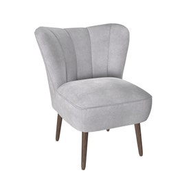 Abby Chenille Cocktail Chair - Silver
