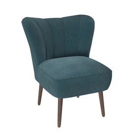 Abby Chenille Cocktail Chair - Emerald