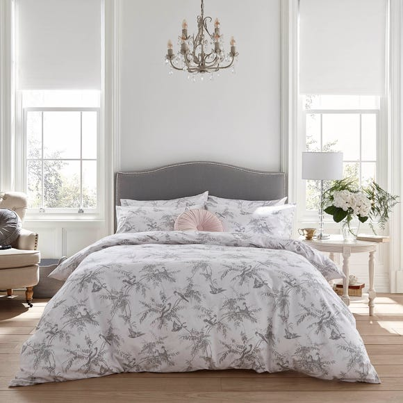 Holly Willoughby Fauna Mint 100% Brushed Cotton Reversible Duvet Cover and Pillowcase Set  undefined