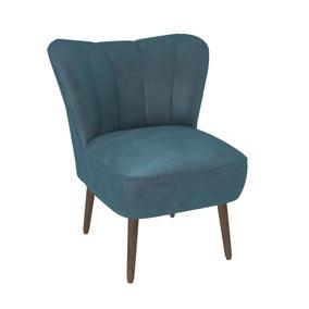 Abby Velvet Cocktail Chair - Pacific