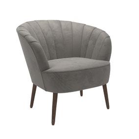 Rosalie Velvet Shell Chair - Asphalt