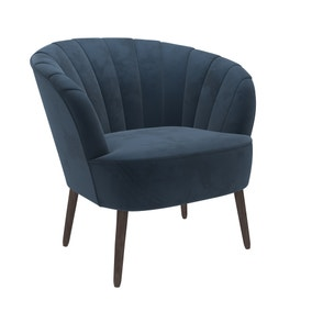 Rosalie Velvet Shell Chair - Pacific