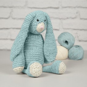 Wool Couture Mabel Bunny Blue Knitting Kit