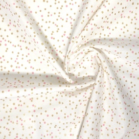 Confetti Metallic Pink 2M Fabric Pack