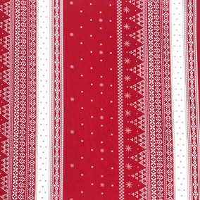 Nordic Nomad Fair Isle Red 2M Fabric Pack