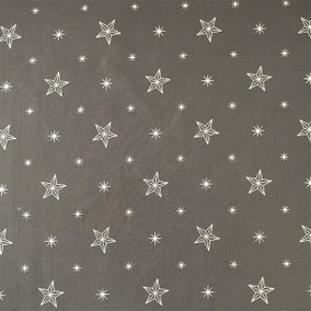 Star Metallic Charcoal Grey Craft Cotton