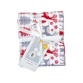 Scandi Christmas Grey Fat Quarter