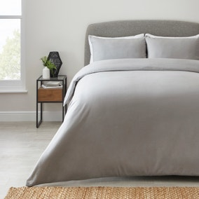 Simply Brushed Cotton Duvet Cover and Pillowcase Set