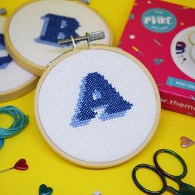 The Make Arcade Monogram Mini Cross Stitch